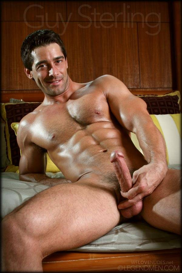 Ripped-Muscle-Hunk-Guy-Sterling-Strips-Naked-and-Strokes-His-Big-Hard-Cock-