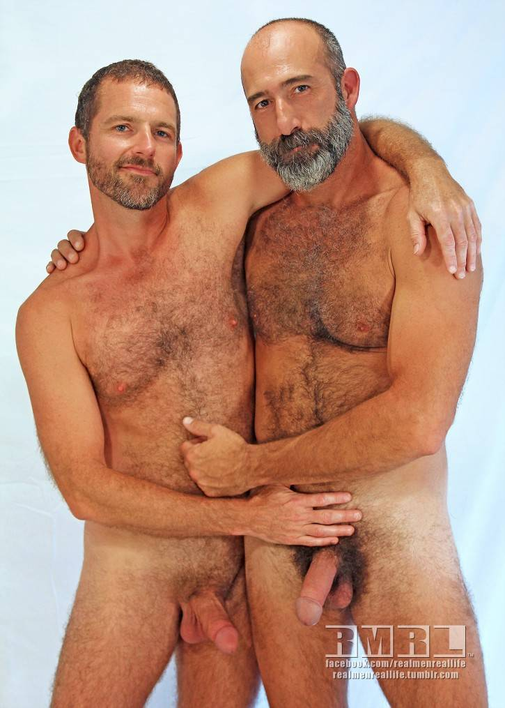 Naked middle age men