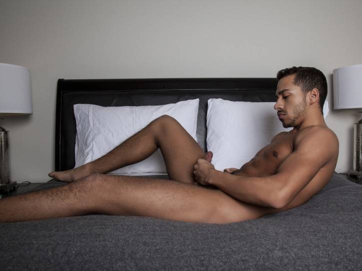 Tyson Glover seems like a shy 20 year old boy from West Virginia. But he has got a kink inside of him. He loves to show off his hot body. And the more he got naked, the harder his dick became. He showed off his sexy ass and even shoved a finger inside. Then he gripped his hard black cock and started to jerk it. He wanted to cum for us. He stood up and came buckets all over the floor. If you can't wait to see this sexy fucker get fucked, don't worry. You don't have long to wait. Meanwhile check out the sexy free pics of this gay naked man.